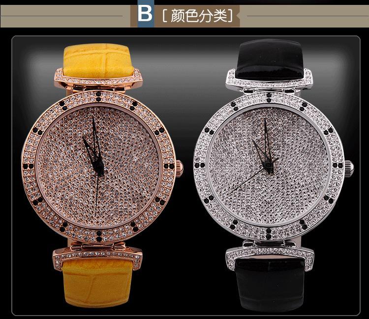 Fashion Starry Series Women Full Crystals Dress Watches Davena Simple Designer Quartz Wrist watch Real Leather Relojes WA005<br><br>Aliexpress