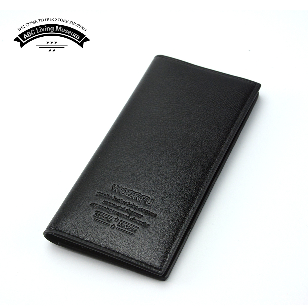 Brand new mens wallet leather genuine and pu without zipper designs man wallet with card holder
