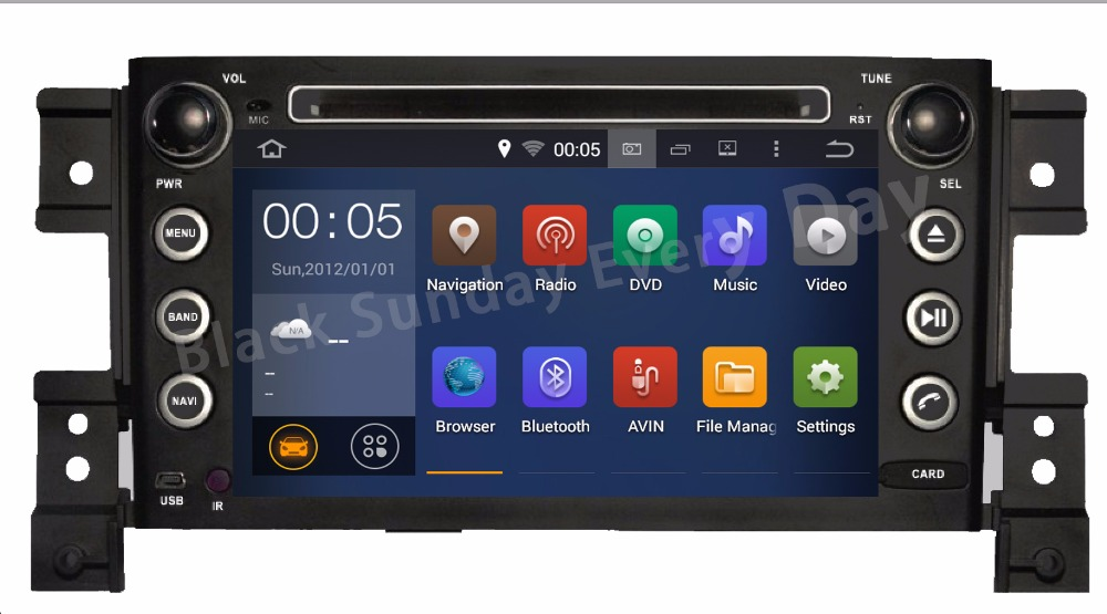 NEW HD 1024X600 Android Car DVD Stereo For Suzuki Grand Vitara 2005 2006 2007 2008 2009 2010 2011 2012 Auto Radio GPS Navi DVD(China (Mainland))