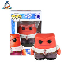 [QuanPaPa] Genuine Original FunKo POP Inside Out Anger 136 Model Action Figure doll car Decoration kids toys