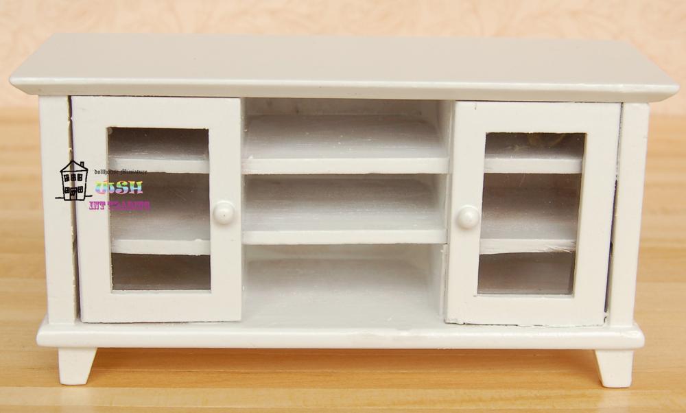 poppenhuis poppen 1 12 wit hout tv kast promotie winkel voor promoties wit hout