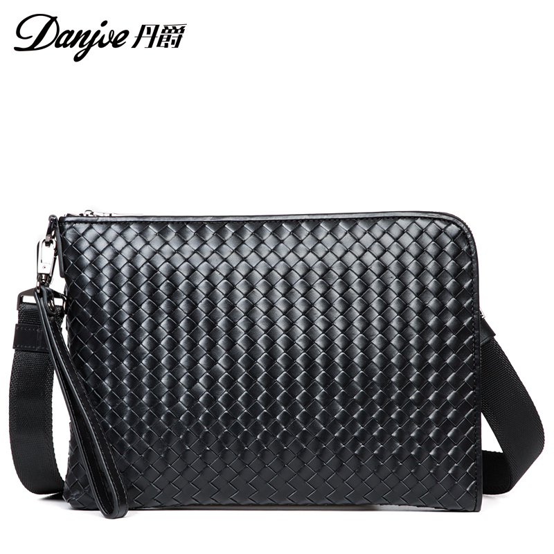 Фотография Danjue New Famous real cowhide elather Men crossbody bag  Casual  Bags Business High Quality crossbody bag Handbags