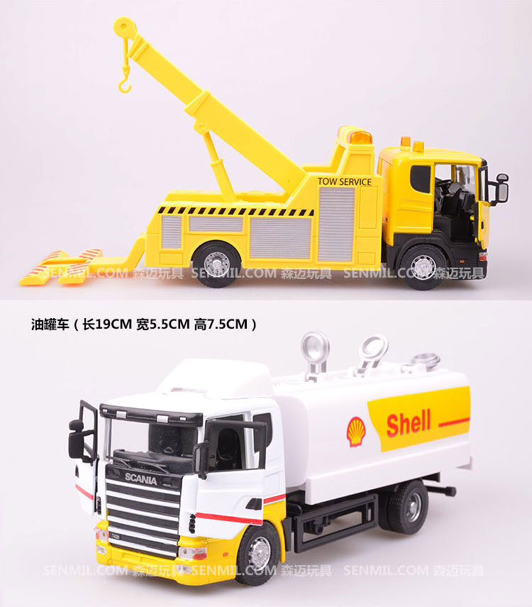 NEW 18*eight*7cm Scania truck rubbish truck waste truck eco-friendly automobile transport automobile mannequin toy as reward for boy kids