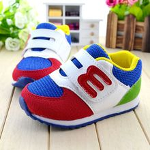 2016 spring autumn baby sports shoes fashion boys and girls outdoor toddler shoes good quality kids sneakers pink bliue(China (Mainland))
