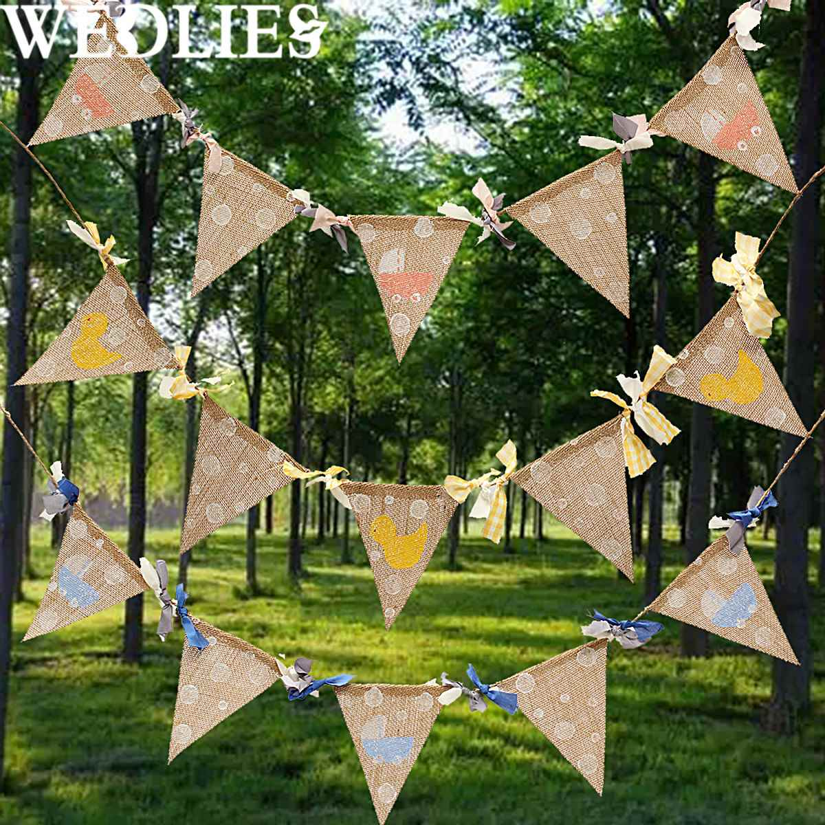 Triangle Flags Burlap Banners Linen Bunting Garlands Wedding Birthday Party Ornament Accessories Outdoor Events Camping Decor(China (Mainland))
