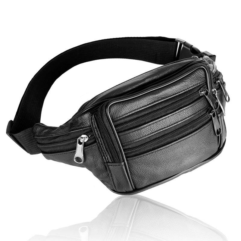 2016 travel bags mens leather belt bag waist pack
