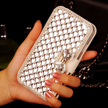 Buy Luxury Bling Crystal Diamond Rhinestone White PU Leather Wallet Case Cover UMI ROME X Free for $9.09 in AliExpress store
