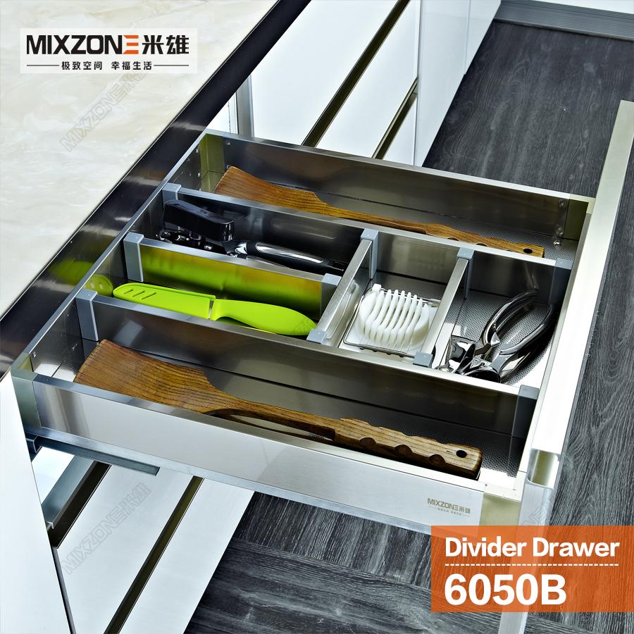 Kitchen cabinet cutlery tray utensil divider basket drawer
