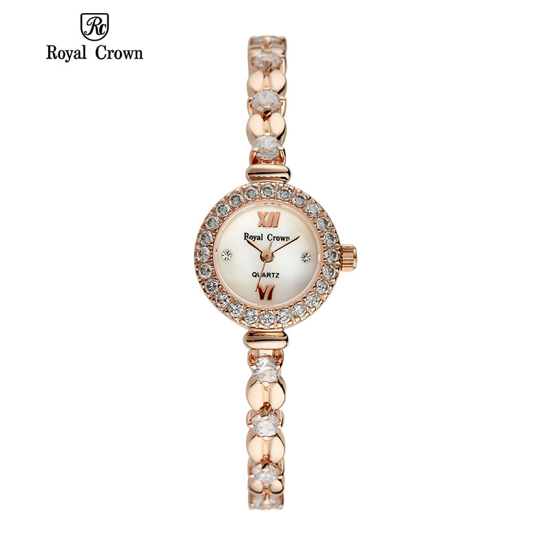 Royal Crown 6501 Italy Brand MIYOTA Switzerland Diamond ladies quartz watch high quality pointer girls relogio feminino