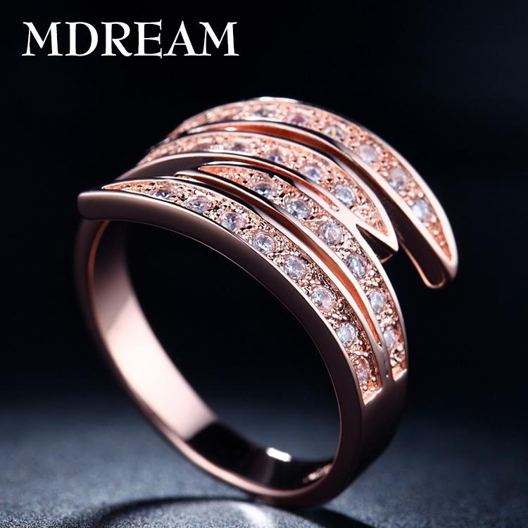 New Arrival !! 18kgp rose gold filled withAAA Ziron ring for women Elegant party Luxury vintage jewelry have heart&Arrow 18K002(China (Mainland))