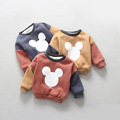 Children s 2016 winter new boys and girls child double thickened plus velvet cardigan sweater printed