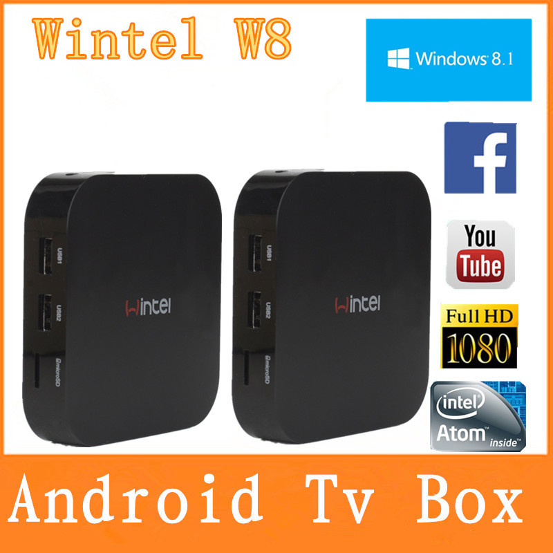 Wintel W8 2GB 32GB Version Mini PC & TV BOX Quad-Core Intel Atom Z3735F Windows 8.1 OS Portable PC mini computer(China (Mainland))