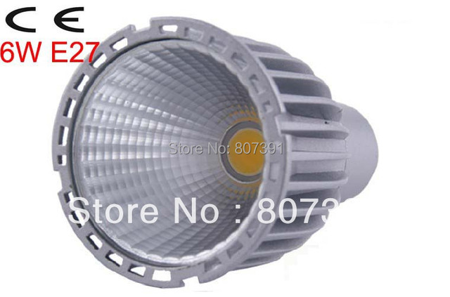 2 year warranty Epistar 6W e27 led spotlight COB/ 6w e27 led cob spot light/ 6w cob led light e27