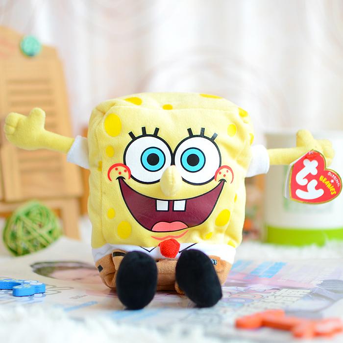 Ty Sponge Bob Best Day Ever Plush Toys Cartoon SpongeBob Soft Anime Cosplay Stuffed Doll for Kids Christmas Gifts SquarePants(China (Mainland))