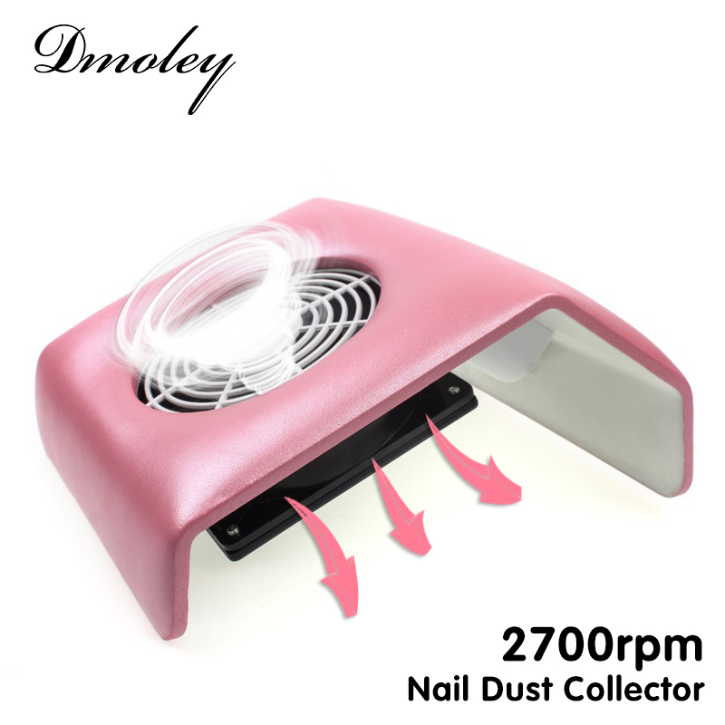 220V Nail Art Salon Suction Dust Collector Manicure 2700Rpm Filing Acrylic UV Gel Tip Machine Vacuum Cleaner Salon Tool EU Plug(China (Mainland))