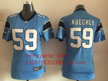 100% stitched youth Carolina Panthers children 59 Luke Kuechly Embroidery Logos size S to XL,camouflage(China (Mainland))