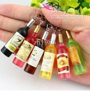 / promotion Cute lovely cartoon Donut squishy charm / mobile phone strap chain Cell Phones Grape bottle 30 Pcs/lot JC34