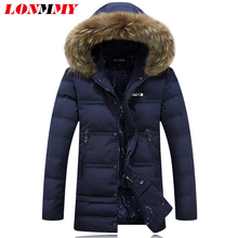 LONMMY 2016 Duck down coat with fur Hoodies Winter duck down jacket men Long hoods parka men Brand clothing Fashion New M-3XL(China (Mainland))