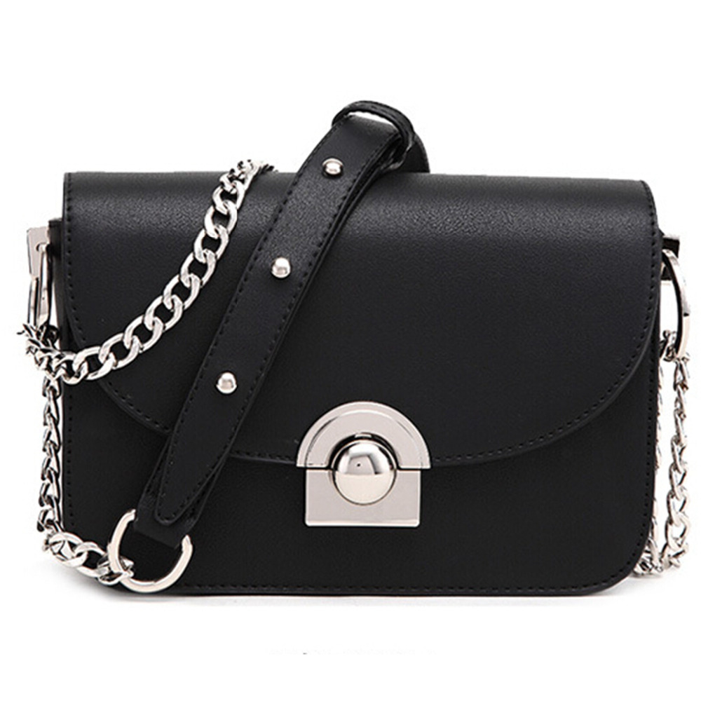 2016new Fashion The chain lock Handbag Brand Famous Designer Mini Shoulder Bag Woman Crossbody Bag Messenger Handbag Bolso(China (Mainland))