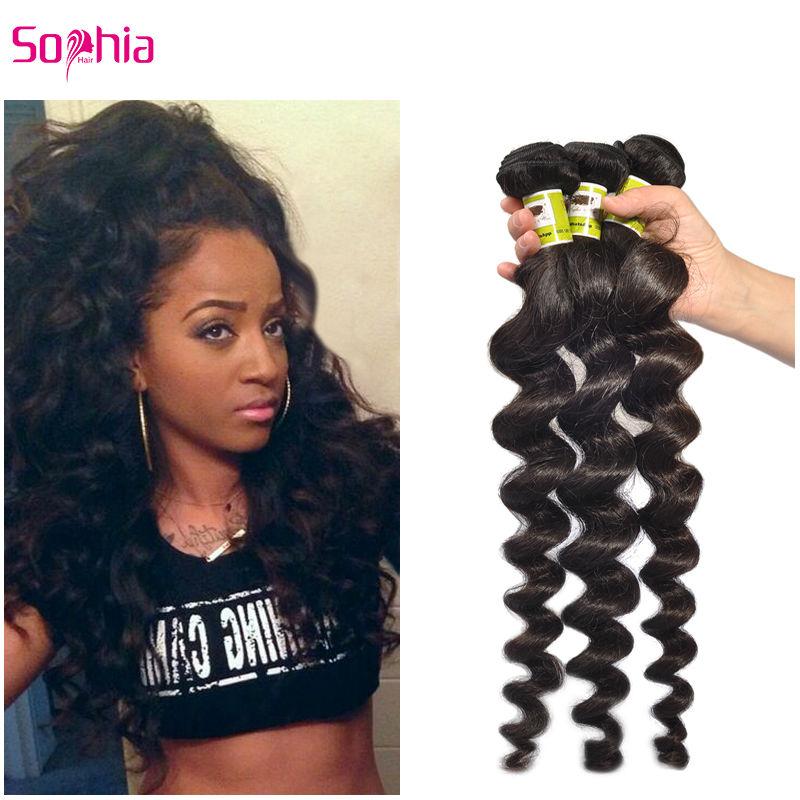 Sophia Hair Products Indian Virgin Hair Loose Wave 3Pcs/Lot Cheap Indian Remy Hair Bundles Raw Indian Human Hair Shipping Free<br><br>Aliexpress