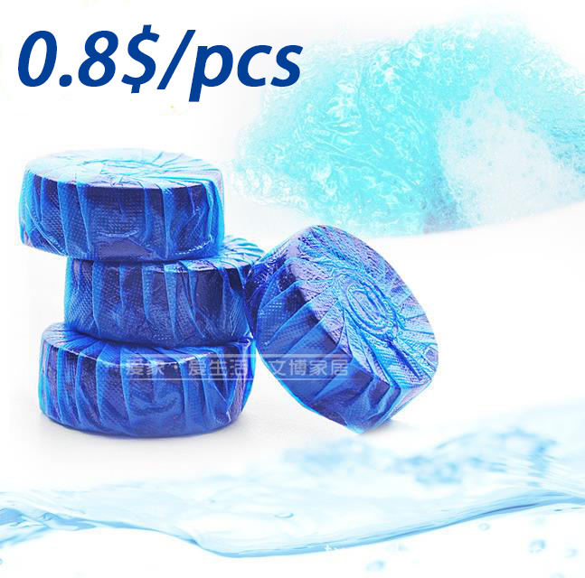 0.8$ 8pcs/lot new sale magic Toilet cleaner spirit fragrant ball blue/green bubble cleaning toilet cleaner free shipping(China (Mainland))