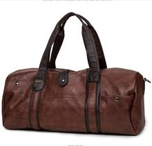 2016 Luxury Men Leather Travel Bag Outdoor Vintage Men Fashionable Duffle Bags High-Capacity Brown Shoulder Gym Bag(China (Mainland))