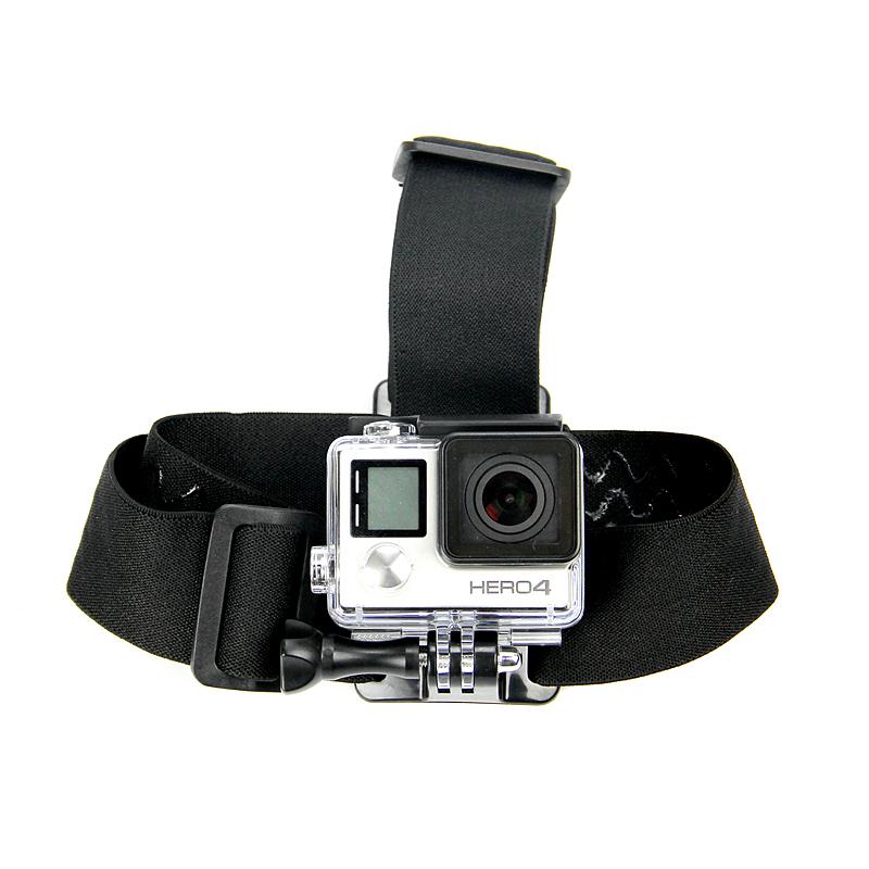 High quality Adjustable Elastic Head Belt Strap Mount For Gopro Hero 4 3+2 SJCAM Sj4050 Xiaomi Yi Action Camera Accessories GP23