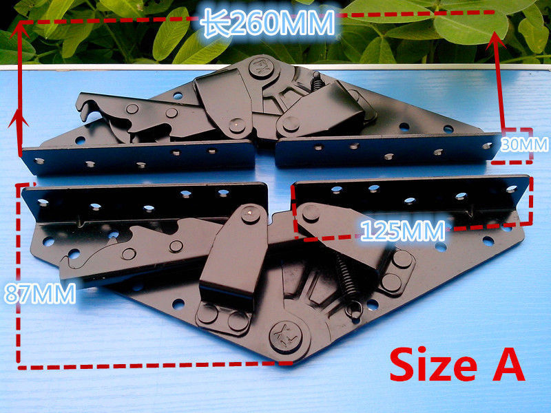 Sofa Bed Hinge Hardware Adjustable Angle Length 260mm/230mm Left/Right XWJ(China (Mainland))