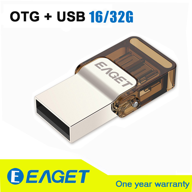 Original EAGET V9 Official Licensed Micro USB Flash Drive USB2.0 OTG 16G 32G Smart Phone Pen Drive Memory USB Stick(China (Mainland))