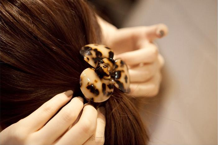 Flower Leopard Ponytail Holders Scrunchy Hair Ring Hair Tie Hari Band Hair Accessories For Kids Women 15g(China (Mainland))