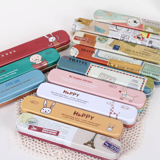 Angel zimu paragraph of fresh cartoon mini global travel box stationery box