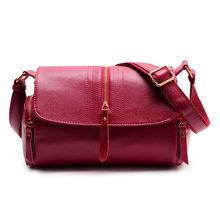 Fashion Genuine leather women messenger bag Zipper tassel crossbody bags for women's shoulder bag Ladies handbag free shipping(China (Mainland))