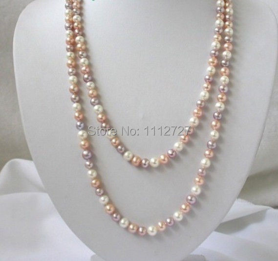 """Discount!!DIYAttractive long 50""""8mm round shell pearl freshwater pearls necklace beads jewelry making AAA+++ about200pcs/strands(China (Mainland))"""