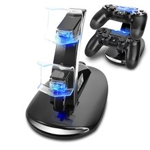Mini LED Dual Charger Dock Mount USB Charging Stand For Sony PS4 PlayStation Controller