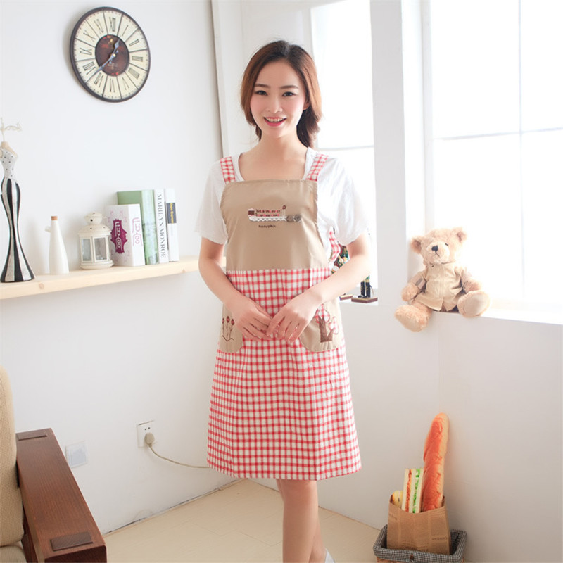 Hot Sale Women Lady Dress Restaurant Home Kitchen Cooking Cotton Apron Bib Floral Pattern(China (Mainland))