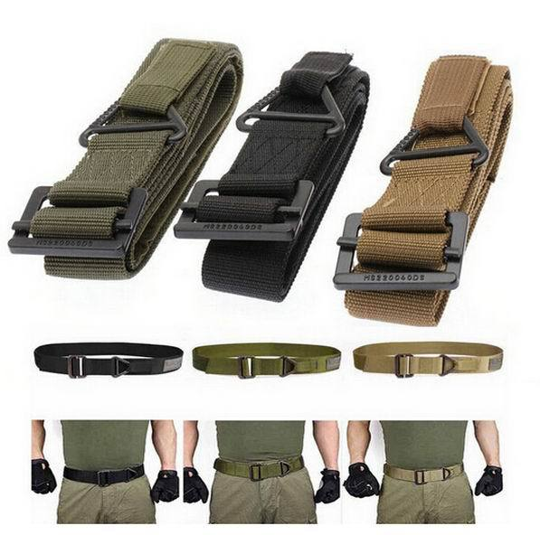 """2015 Hot Sale 48"""" Canvas Military Tactical Men Belt Black Slider Buckle 3 Colors Fashionable Shades Super Quality(China (Mainland))"""
