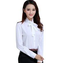 Buy Korean Style Women Tie White Blouse Ladies Office Work Wear Shirts Fashion Elegant Ruffles Long Sleeve Blusas Tops for $5.23 in AliExpress store
