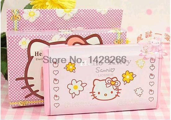 Hellokitty hello kitty 12 digit Solar Power Calculator pink(China (Mainland))
