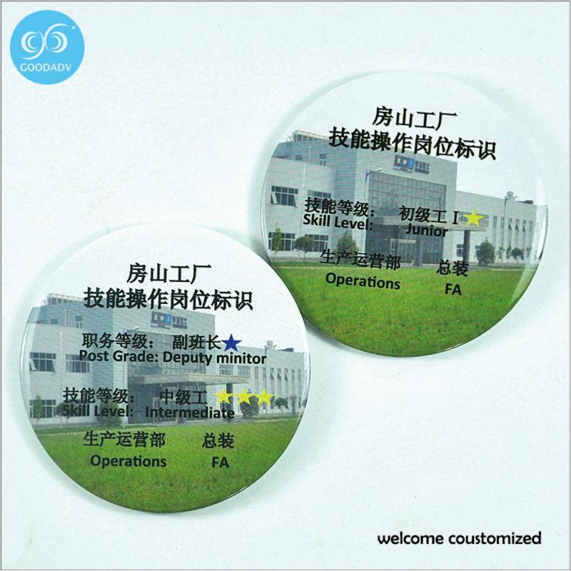 Factory wholesale Cheap Round Advertising tinplate badge sale cheap custom logo round 58mm badge pin(China (Mainland))