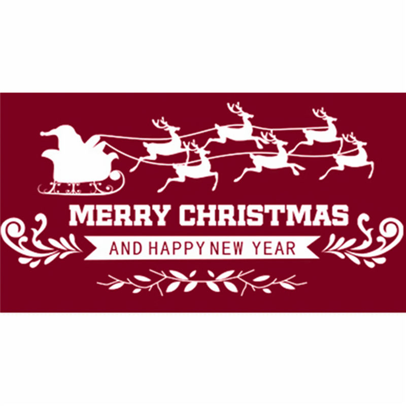 Best Promotion Waterproof White Removable PVC Christmas Xmas Wall Window Sticker Decal Home Decorations Decor 50x70cm(China (Mainland))