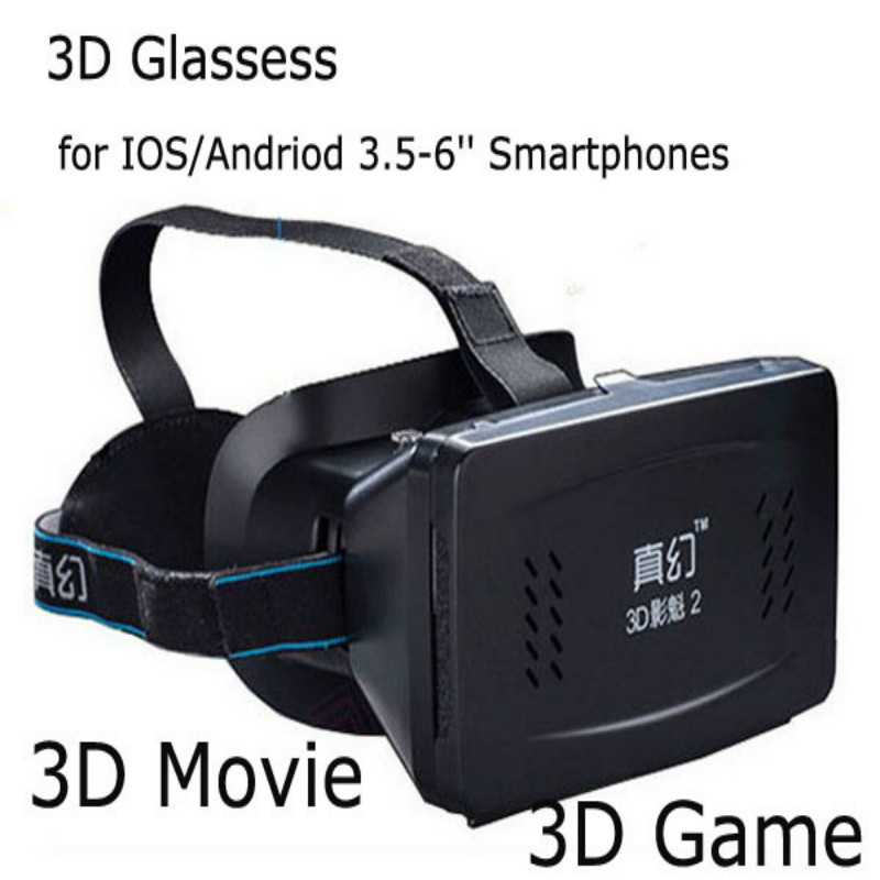 3D Video Glasses 200'' Virtual Reality VR Box Mobile Phone Glasses For I