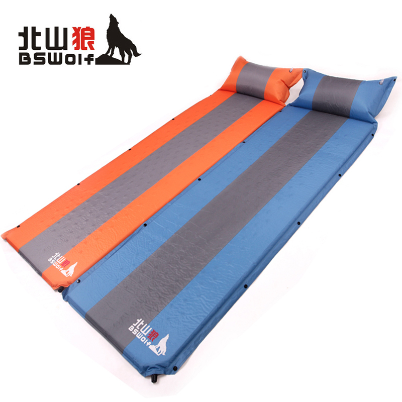 BSWolf Automatic Tent Inflatable Mattress Outdoor Camping Mat Picnic Blanket Waterproof Beach Mat Air Mattress Free