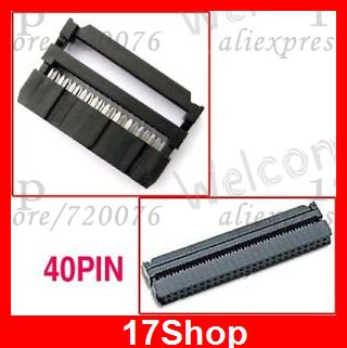 10PC FEMALE 40 PIN IDC FLAT RIBBON CONNECTOR FC-40P IDS(China (Mainland))