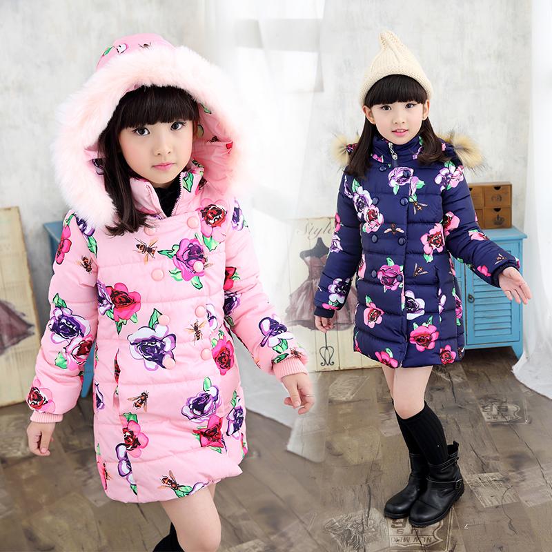 2016 Cotton Childrens Winter Jackets Ticken Velvet Vetement Fille Long Girls Clothing Coat Childrens Winter Jacktes For Girls<br><br>Aliexpress