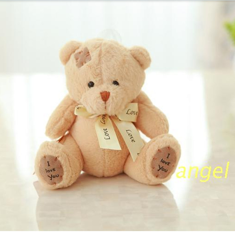 New Year's gift cute little plush toy teddy bear doll small patch of cloth doll bear activity gifts(China (Mainland))