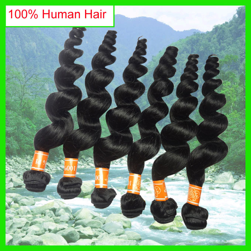 6pcs/lot Peruvian Hair Loose Wave Cheap Peruvian Loose Wave Hair Extensions, Huma Hair Weave Wavy Bundles<br><br>Aliexpress