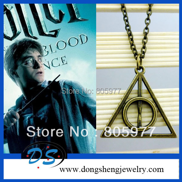 Free shipping!Harry Potter DEATHLY HALLOWS Pendant Necklace