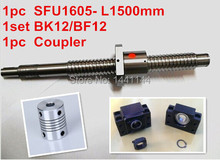 antibacklash ball screw 1605 - 1500mm end machined -C7+ BK/BF12 Support + 6.35*10mm coupler The Jason August store