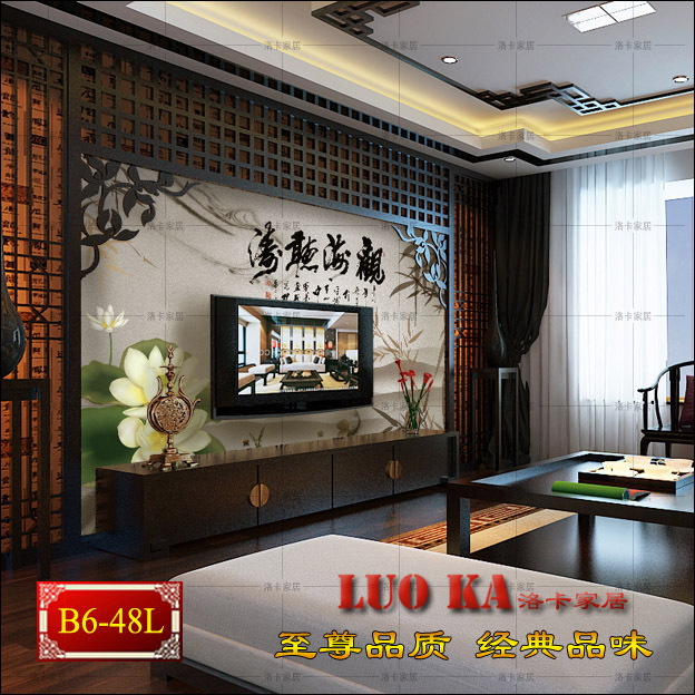 Chinese TV sofa backdrop wall wallpaper murals modern classic study bedroom wall covering wallpaper lotus<br><br>Aliexpress