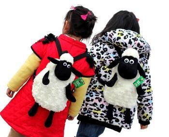 Free shipping 30cm cute NICI Shean dolly sheep plush animal school backpack bag kids birthday gift stuffed toy 1 pc a lot
